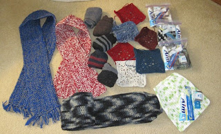 scarves, socks, and personal care for the homeless