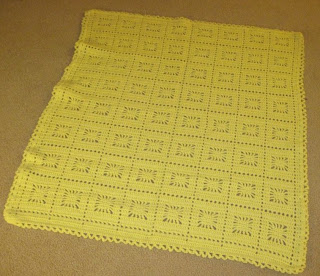 crochet yellow afghan