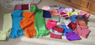 crocheted and knitted items for homeless