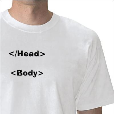 camisa html cabeça corpo head body