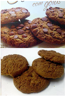cookies sem gota de chocolate