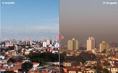 cidade seca e poluída