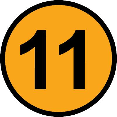 número 11 redondo