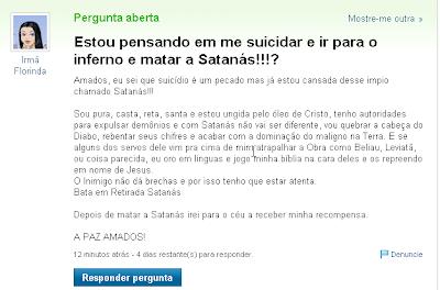 suicidar e matar satanás