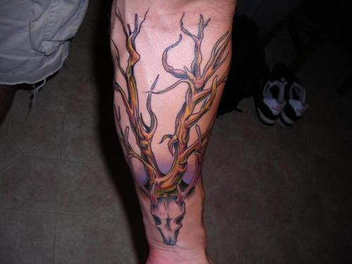 tattoo trees. chinese cherry tree tattoo.