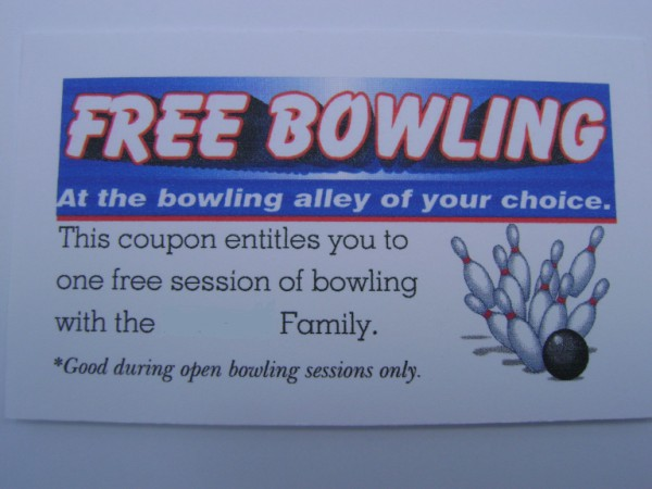 Happy Stamper Inkorporated Bowling Birthday Card