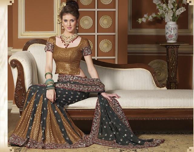 [Modern+Lehenga+Style+Bridal+Saree.jpg]