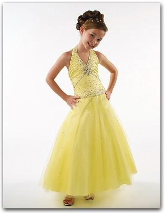 Yellow Springtime Flower Girl Dresses 57