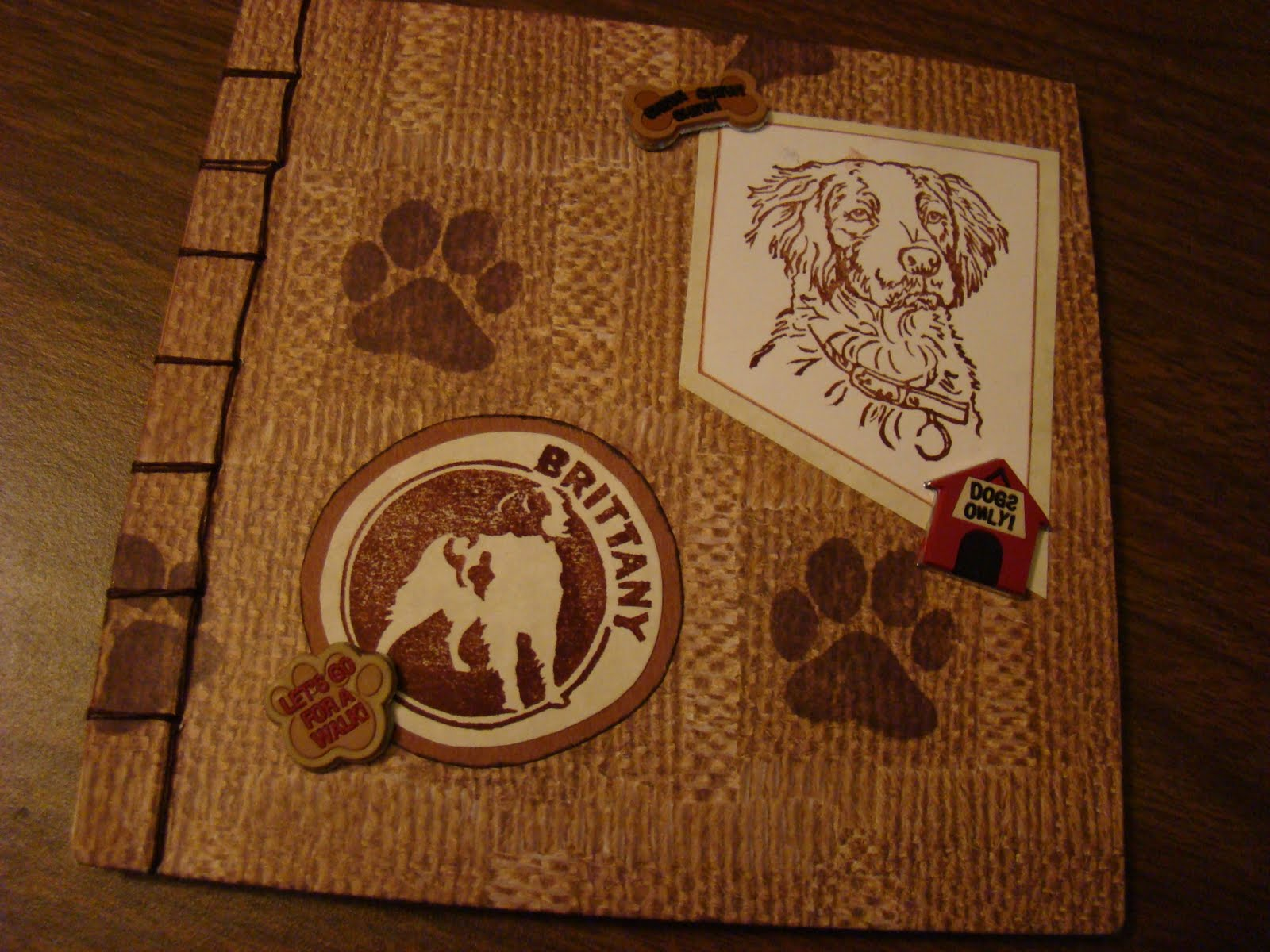 Made for the Dog Breeds postal ring, it featured my sweet Brittany