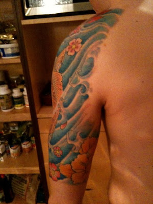 tattoo wave. japanese wave tattoos.