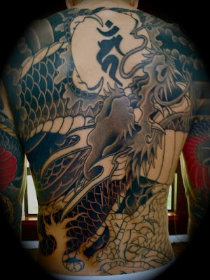 Japanese Dragon Tattoo Design on Back