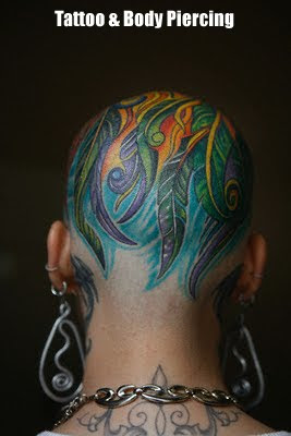 Style Body Tattoo on Head