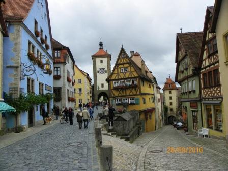 Romantico paseo por Rotemburgo Ob Der Tauber