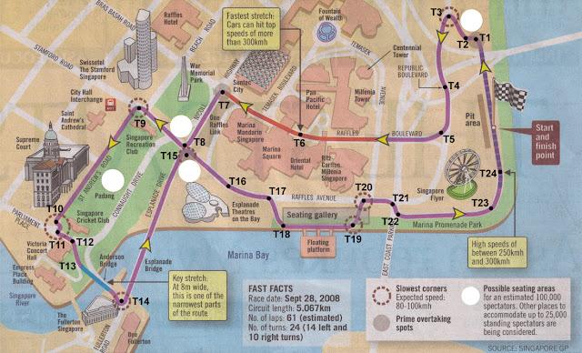 Recorrido bus turistico de Singapur