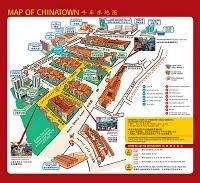 Mapa de Chinatown en Singapur