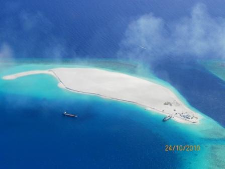 Vista aérea de las Maldivas