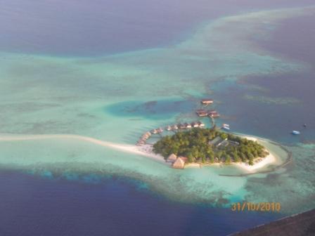 En las Turquesas Aguas del Indico Maldivas