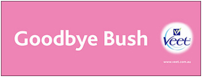 Goodbye Bush - veet advert