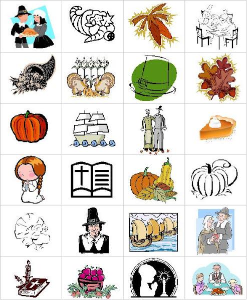 Thanksgiving Memory Game Printable