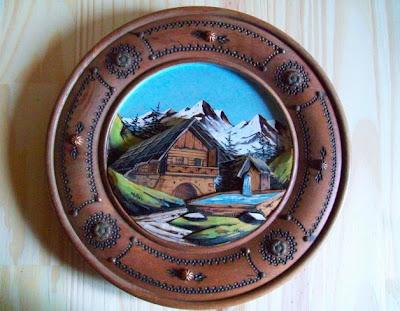 brocante 1515 brocante assiette savoyarde en bois. Black Bedroom Furniture Sets. Home Design Ideas