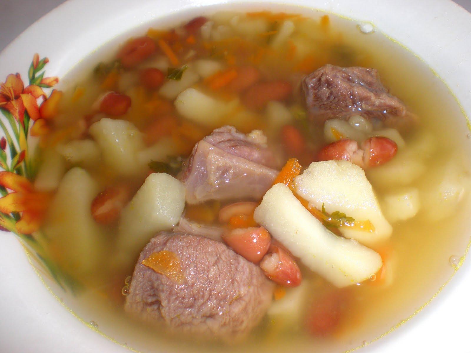 Суп из фасоли с говядиной рецепт с пошагово