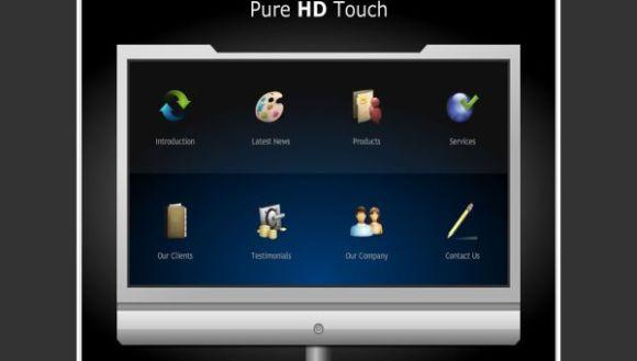 Free Flash Black Windows Vista HD Template