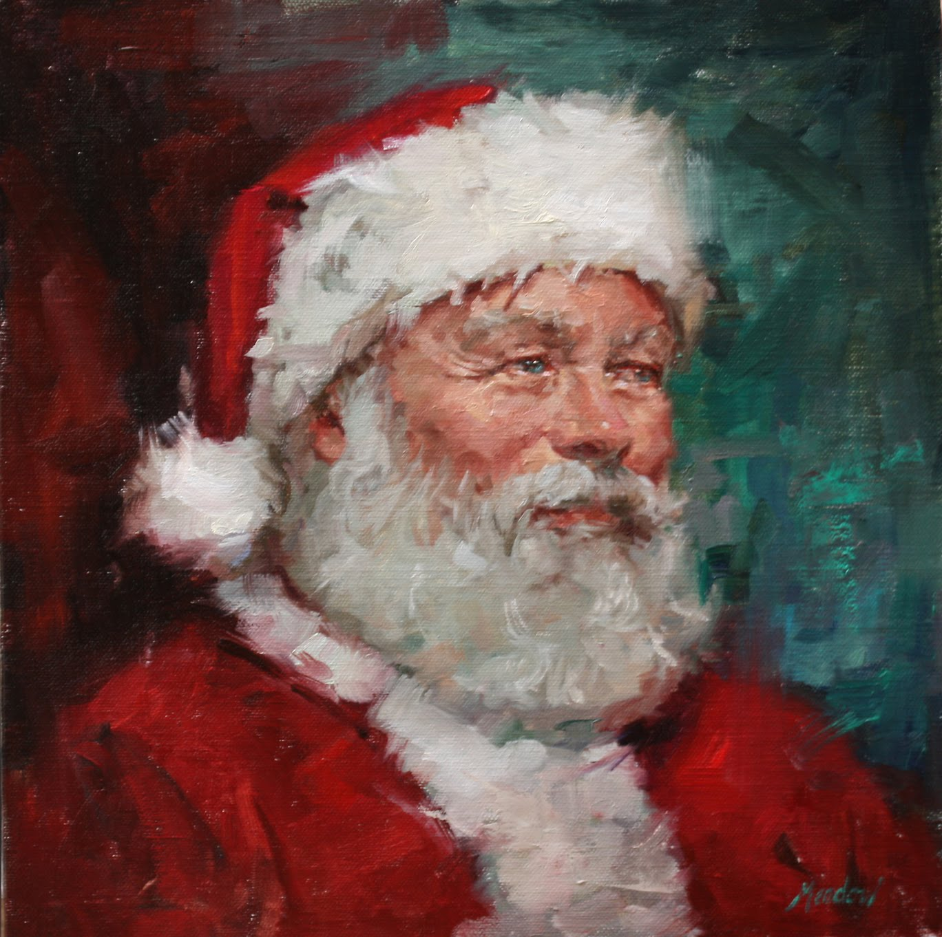 Duchess trading dueling santas for Christmas images paintings