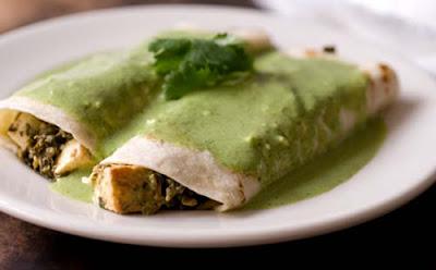 saag paneer enchiladas