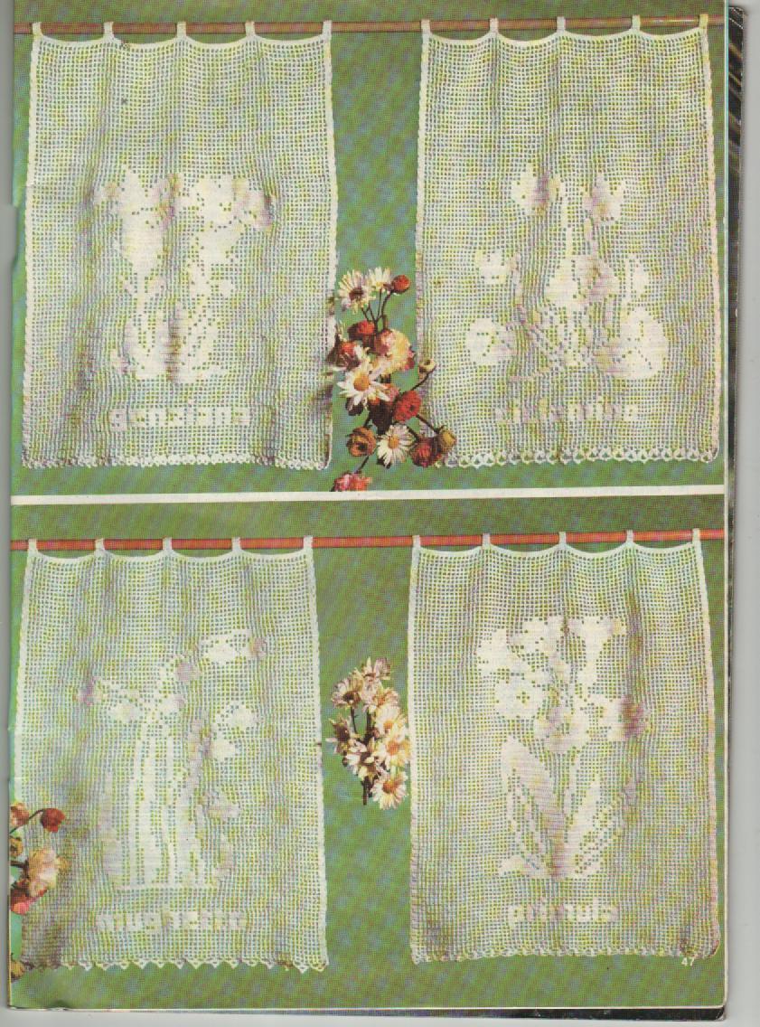 Estas cortinas são feitas em crochê e não são menos belas que as