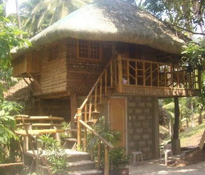 2 storey modern design of Nipa Hut Philippines