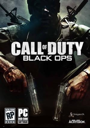 The Call of Duty: Black Ops video game cover edited by a cyber