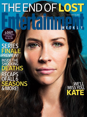 Entertainemnt Weekly Issue #1102 - May 14, 2010 - LOST Collector's Covers 4 of 10 - Evangeline Lilly as Kate Austen