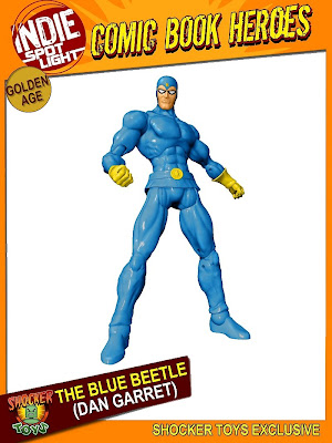 Shocker Toys - San Diego Comic-Con 2010 Exclusive Golden Age The Blue Beetle (Dan Garret) Action Figure