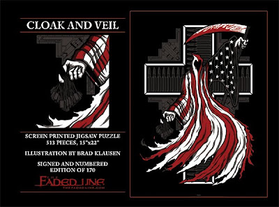 The Faded Line Limited Edition Jigsaw Puzzles - Cloak and Veil by Brad Klausen