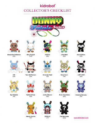 Kidrobot - Dunny Fatale Series Official Checklist and Ratios