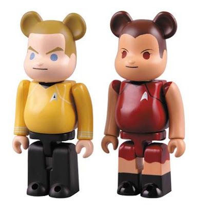 Star Trek 100% Be@rbrick Set by Medicom Toy - James T. Kirt and Uhura Be@rbricks