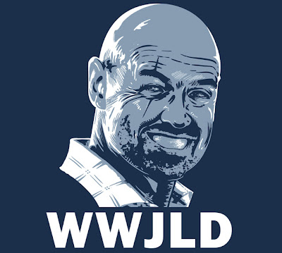 TeeFury - Lost Themed T-Shirt WWJLD? (What Would John Locke Do?) by The Teevil Initiative
