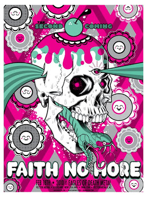 Buff Monster x Brian Ewing Faith No More Concert Poster
