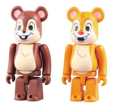Disney x Medicom Chip 'n Dale 100% Be@rbrick 2 Pack