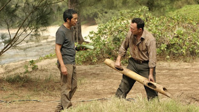 Lost - Dr. Linus - Ken Leung as Miles Straume & Michael Emerson as Ben Linus