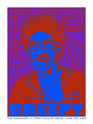 PNE - The Hangover Creepy Bonus Screen Print by Justin Hampton