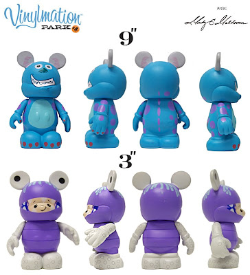 Disney Vinylmation Monsters, Inc. Vinyl Figure Set - 9 Inch Sully &amp; 3 Inch Boo in Monster Disguise