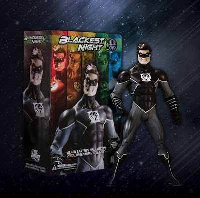 DC Direct x Graphitti Designs WonderCon Exclusive Black Lantern Hal Jordan Action Figure and Packaging