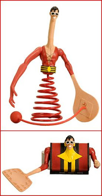 San Diego Comic-Con 2010 Exclusive DC Universe Classics Plastic Man Action Figure with Plastic Man Suitcase by Mattel
