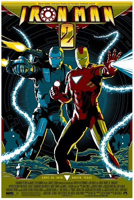 Iron Man 2 Screen Print by Mike Saputo