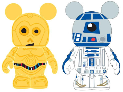 Disney Vinylmation Star Wars Series 1 Preview Artwork - C-3PO and R2-D2