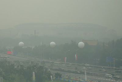 A Photo from 08-07-08 of the China's Olympic Bird's Nest - Just One Day Before the Start of the XXIX Olympiad
