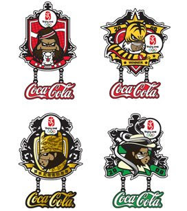 Tim Tsui Gorilla Coca-Cola 2008 Beijing Olympic Pin Set