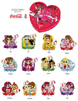 Alice Chan Princess Coca-Cola 2008 Beijing Olympic Pin Set