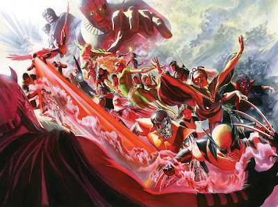 Uncanny X-Men Issue #500 Cover Artwork by Alex Ross